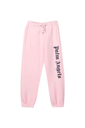 Pantalone rosa con stampa PALM ANGELS KIDS   9   PGCH001F21FLE0013046