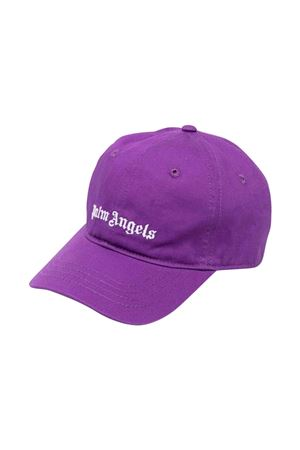Cappello viola con stampa PALM ANGELS KIDS   75988881   PGLB001F21FAB0013701