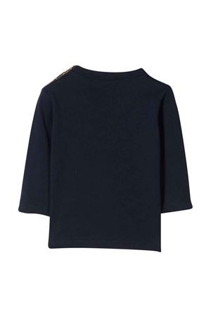 T-shirt nera con stampa frontale PAUL SMITH JUNIOR | 8 | P0506683D