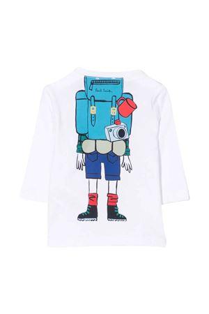 T-shirt bianca con stampa PAUL SMITH JUNIOR | 8 | P0506810P