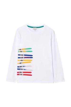 T-shirt teen bianca con stampa multicolor PAUL SMITH JUNIOR | 8 | P2521910PT