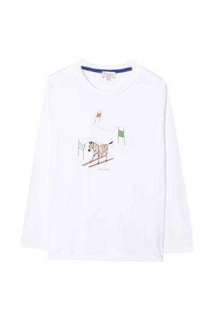 T-shirt teen bianca con stampa Paul Smith Junior PAUL SMITH JUNIOR | 8 | P2522310PT