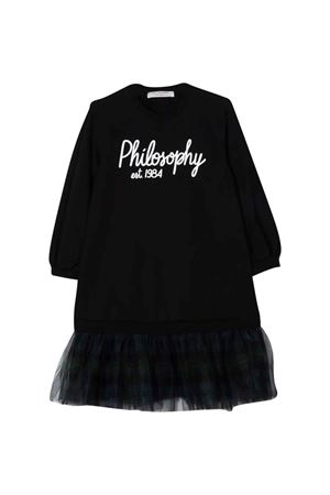 Abito nero con stampa PHILOSOPHY KIDS   11   PJAB153FE147YP028D038