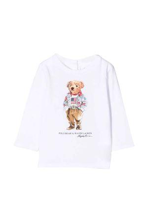 White t-shirt with frontal print RALPH LAUREN KIDS | 8 | 310854212003