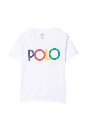 white t-shirt  RALPH LAUREN KIDS   8   312844858002
