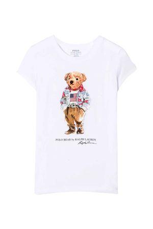 T-shirt bianca con stampa RALPH LAUREN KIDS | 8 | 312850649001