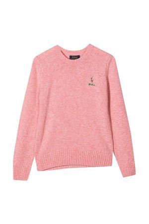 Maglia rosa con logo RALPH LAUREN KIDS | 7 | 313800168006