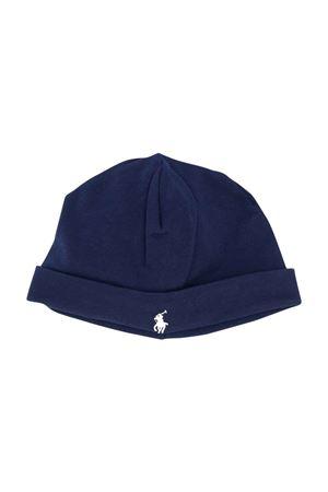 Berretto blu con ricamo RALPH LAUREN KIDS | 75988881 | 320552454003