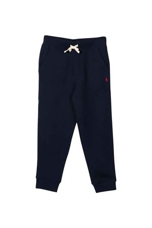 Blue trousers with red logo RALPH LAUREN KIDS | 9 | 322720897003