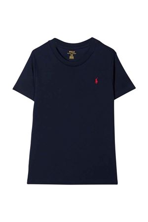 Blue t-shirt with red logo RALPH LAUREN KIDS | 8 | 322832904037