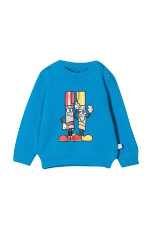 newborn blue sweatshirt  STELLA MCCARTNEY KIDS | -108764232 | 602269SRJ664011
