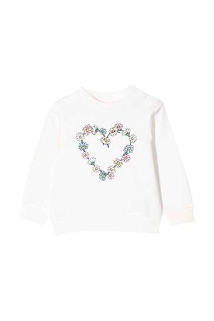 white newborn sweatshirt  STELLA MCCARTNEY KIDS | -108764232 | 602594SQJ999100