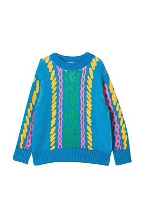 Stella McCartney Kids light blue sweater  STELLA MCCARTNEY KIDS | 7 | 603008SRM074011