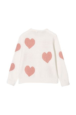 White cardigan with hearts STELLA MCCARTNEY KIDS | 39 | 603591SRM199100