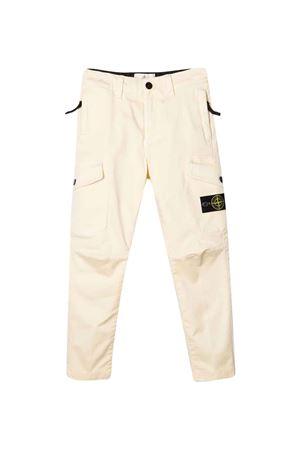 Pantaloni bianchi bambino STONE ISLAND JUNIOR | 9 | 751630311V0135