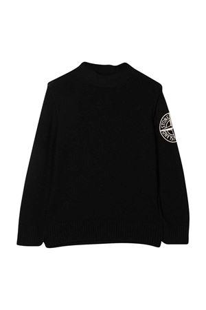 Maglione nero bambino STONE ISLAND JUNIOR | 7 | 7516508A1V0029