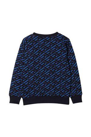 Blue sweatshirt with frontal print VERSACE | -108764232 | 10000491A018865U180