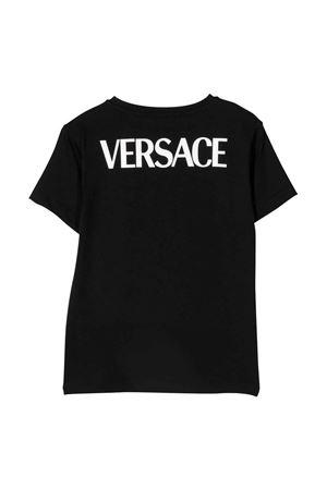 T-shirt nera bambino VERSACE | 8 | 10000521A014196B540