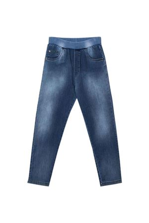 Jeans blu con stampa posteriore VERSACE | 9 | 10001191A005062U170