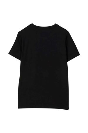 T-shirt nera con stampa arancione VERSACE | 8 | 10001291A018722B070
