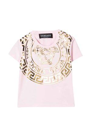 T-shirt rosa neonato VERSACE | 8 | 10001521A013412P460