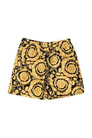 Shorts nero-oro bambina VERSACE | 30 | 10002711A015135B000