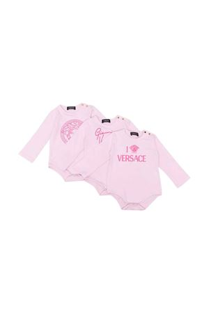 Set tre body neonata rosa VERSACE | 5032246 | 10003131A011262P140