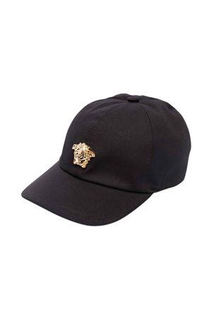 Cappello nero con applicazione Medusa VERSACE | 75988881 | 10003911A015372B130