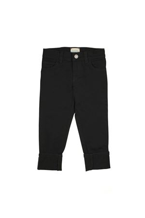 BLACK TROUSERS GUCCI KIDS WITH MULTICOLOR DETAILS GUCCI KIDS | 9 | 519950XRA851060