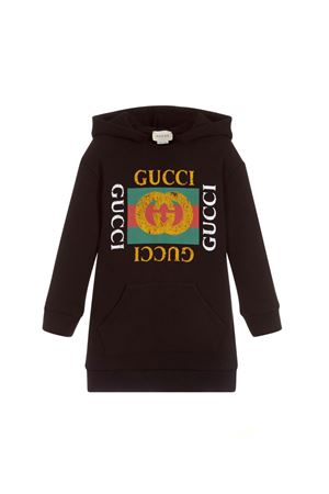 BLACK DRESS GUCCI KIDS WITH MULTICOLOR FRONTAL PRESS GUCCI KIDS | 11 | 532788X3G971060