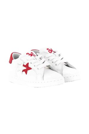 White with red details sneakers 2Star kids 2Star kids | 12 | 2SB1500BIANCOROSSO