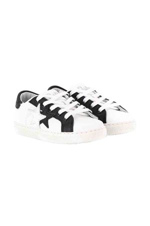 White with black details sneakers 2Star kids 2Star kids | 12 | 2SB1512BIANCONERO