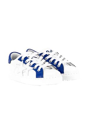 White teen sneakers with blue details 2Star kids 2Star kids | 12 | 2SB1516BIANCOAZZURROT
