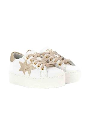 White and gold teen sneakers 2Star kids 2Star kids | 12 | 2SB1540BIANCOOROT