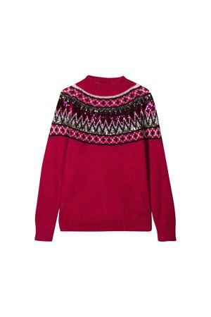 Burgundy sweater Alberta Ferretti kids teen Alberta ferretti kids | 7 | 021193048T