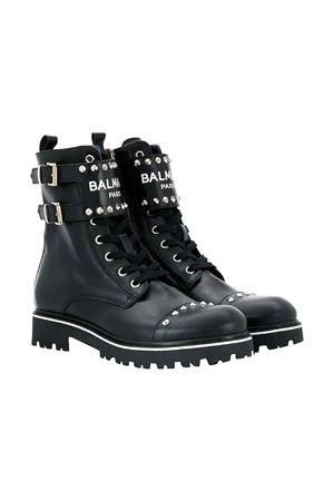 Balmain kids black high boots  BALMAIN KIDS | 76 | 6L0016LX470930