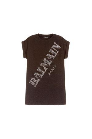BLACK GLITTER BALMAIN KIDS DRESS  BALMAIN KIDS | 11 | 6L1001LA570930