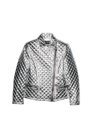 Balmain kids matelassé silver jacket  BALMAIN KIDS | 3 | 6L2050LD380925