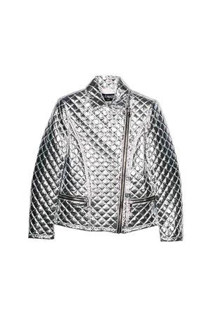 Balmain kids teen matelassé silver jacket  BALMAIN KIDS | 3 | 6L2050LD380925T