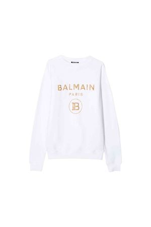 Felpa bianca Balmain kids teen BALMAIN KIDS | 7 | 6L4030LX200100ORT