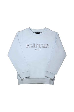 LIGHT BLUE SWEATSHIRT BALMAIN KIDS TEEN BALMAIN KIDS | -108764232 | 6L4520LX170600T