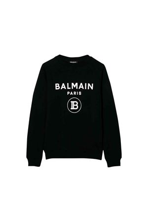 Black Balmain kids teen sweatshirt  BALMAIN KIDS | -108764232 | 6L4630LX200930BCT