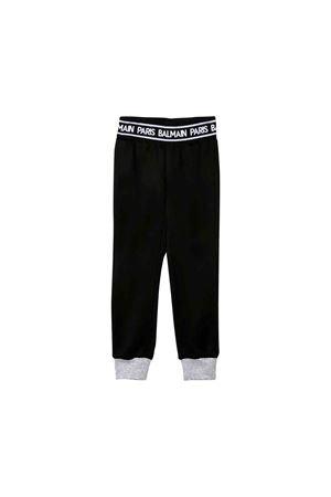 Balmain kids black jogging pants BALMAIN KIDS | 9 | 6L6040LB090930