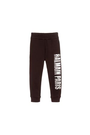 BALMAIN KIDS BLACK TROUSERS BALMAIN KIDS | 9 | 6L6627LC930930AG
