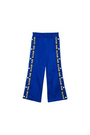 Royal blue trousers girl Balmain kids  BALMAIN KIDS | 9 | 6L6647LB090615