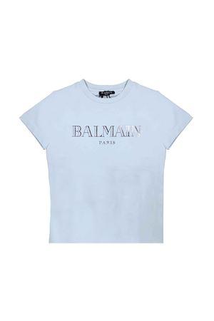 LIGHT BLUE BABY T-SHIRT BALMAIN KIDS BALMAIN KIDS | 5032319 | 6L8021LX160600