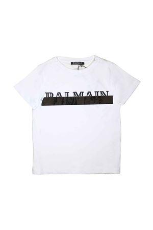 WHITE BABY T-SHIRT BALMAIN KIDS  BALMAIN KIDS | 8 | 6L8501LC750100AG