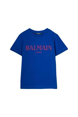 Royal blue t-shirt Balmain kids teen  BALMAIN KIDS | 8 | 6L8591LX160615ROT