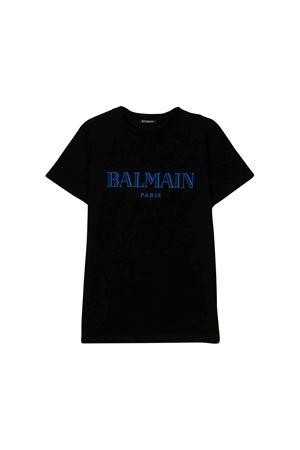 T-shirt nera bambino Balmain kids BALMAIN KIDS | 8 | 6L8591LX160930AZ