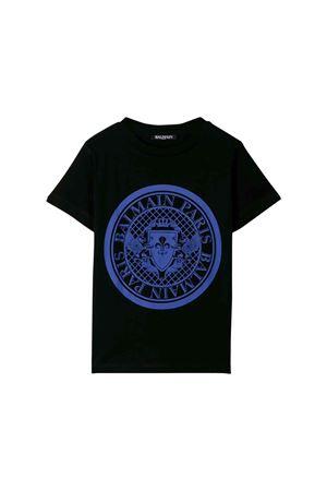 T-shirt nera bambino Balmain kids BALMAIN KIDS | 8 | 6L8621LX160930AZ